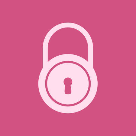 Lock icon.  Flat design style. Access to the user. Çizim