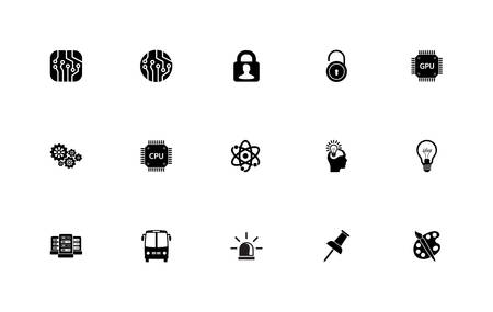 Simple set of general icons: documents