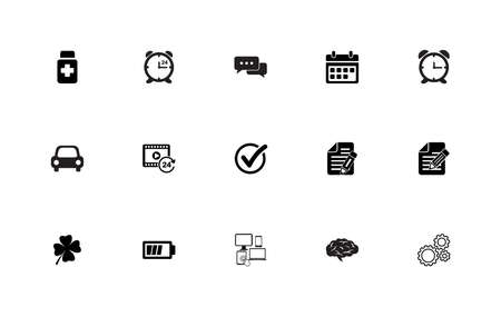 Simple set of general icons