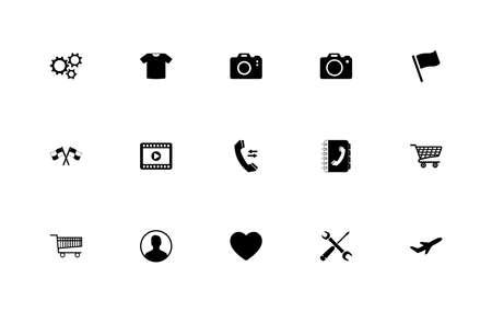 A simple set of generally accepted icons Ilustração
