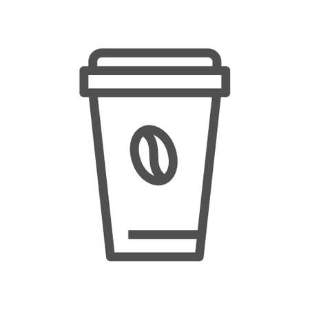 Coffee mug vector. Icon for paper design icon. Editable stroke. 48x48 Pixel Perfect. Ilustração