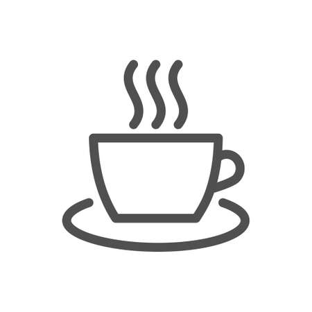 Cup of coffee icon, great design for any purposes. Cup of coffee for banner design.  Food silhouette icon.  Editable stroke. 48x48 Pixel Perfect.