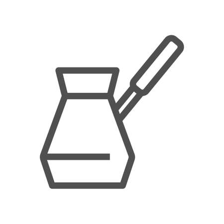 Linear style icon. Coffee simbol. Turkish coffee flat design element. Editable stroke. 48x48 Pixel Perfect. Ilustração