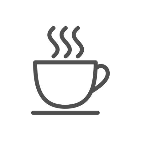 Cup of coffee icon, great design for any purposes. Cup of coffee for banner design. Food silhouette icon. Editable stroke. 48x48 Pixel Perfect. Imagens