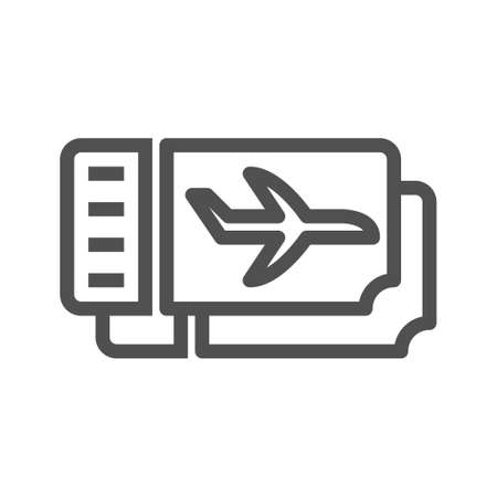 Plane ticket icon. Trendy Plane ticket   concept on white background from Architecture and Travel collection. Linear style icon. flat design element. Editable stroke. 48x48 Pixel Perfect