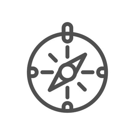 Thin line compass outline icon vector illustration Compass Icon Vector Illustration. Linear style icon. flat design element. Editable stroke. 48x48 Pixel Perfect