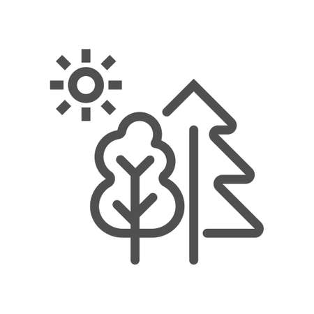 Landscape icon vector. Nature Landscape symbol. Linear style icon. Flat design element. Editable stroke. 48x48 Pixel Perfect.