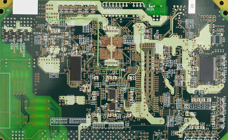 Printed circuit board (close-up photo) Stock Photo - 3358714