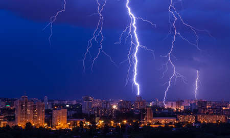 bolt: lightning storm over city