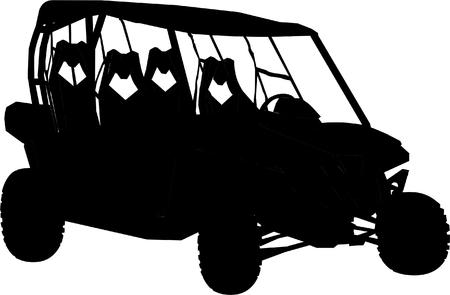 Black car illustration. Ilustração