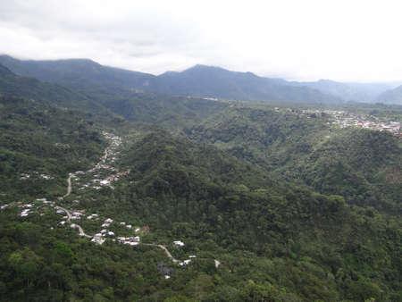 air view: An air view of small towns in Chiapas, Mexico