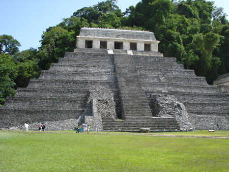 ceremonial: Archaeological site of Palenque in Chiapas, Mexico
