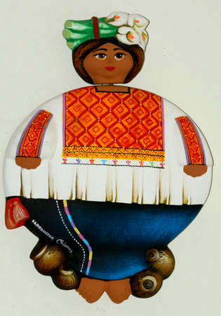 handimade: Mexican ethnic woman doll