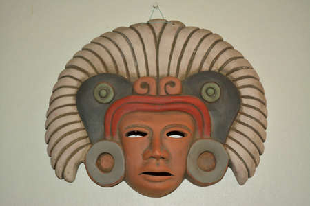 handimade: Mexican aztec mask Stock Photo