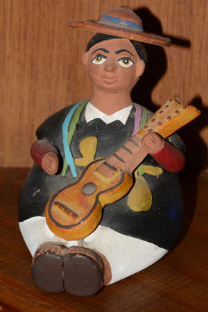 Mexican ethnic clay  man doll