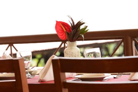 Tropical table setting photo