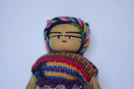 handimade: Mexican ethnic doll close up Stock Photo