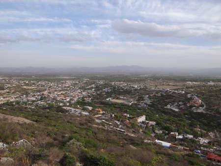 air view: Air view of Bernal town in Queretaro, Mexico Stock Photo