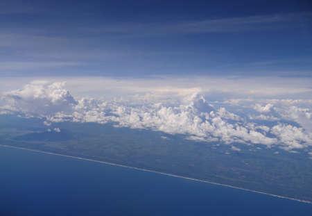 air view: Air view of Oaxaca,  Mexico coastline