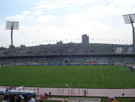 シウダー ・ ウニベルシタリア、メキシコの UNAM でオリンピック スタジアム 報道画像