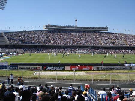 Pumas match in Olympic Stadium at Ciudad Universitaria, UNAM in Mexico