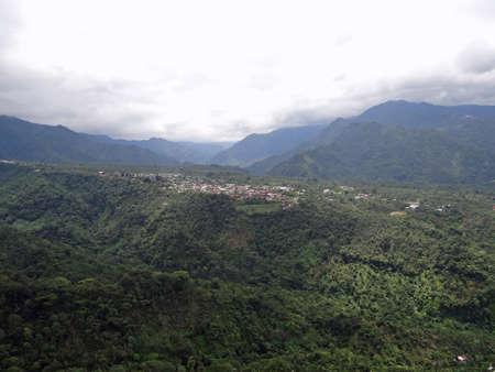 air view: An air view of small towns in Chiapas Mexico