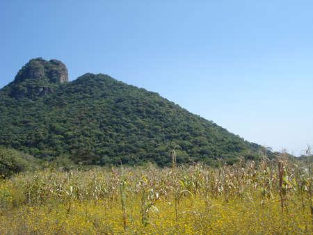 morelos: Landscape in rural town in Morelos Mexico
