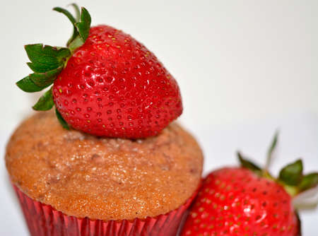 Strawberry cupcake delicious healthy fruit muffin