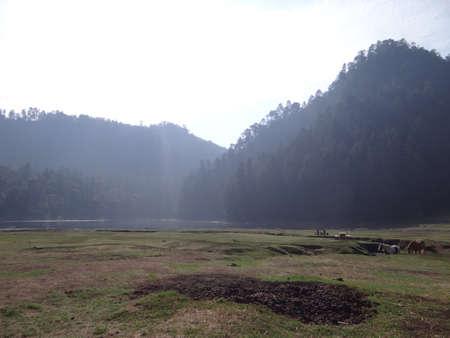 morelos: Zempoala lake in Morelos Mexico
