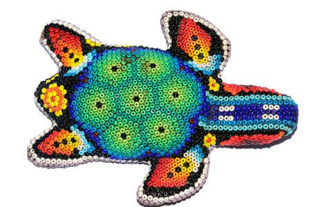 Mexican huichol turtle artcraft