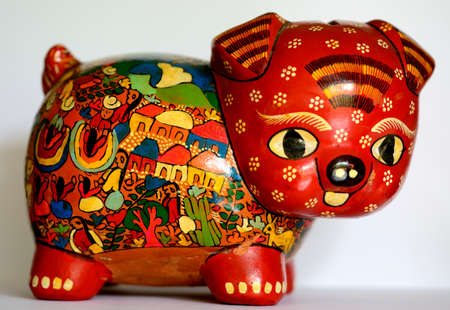 handimade: Mexican ethnic piggy bank, money box artcraft