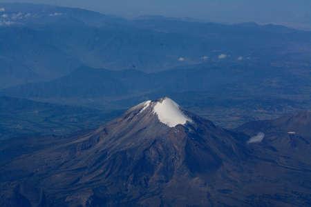 メキシコのピコ ・ デ ・ オリサバ山 写真素材