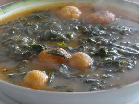 mesoamerica: Chipilin soup, traditional mexican cuisine from Chiapas