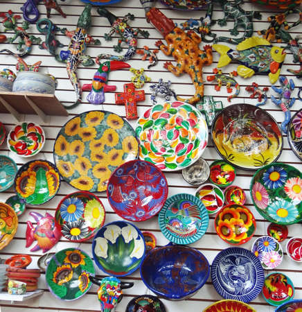 handimade: Mexican ethnic artcraft, colorful souvenir,