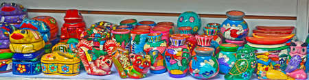 handimade: Mexican clay colorful artcraft, beautiful souvenir