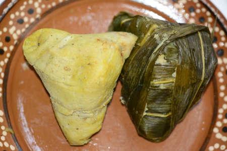 green bean: Mexican traditional dish from Michoacán state Corunda