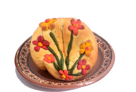 Traditional mexican egg yolk bread from Oaxaca state