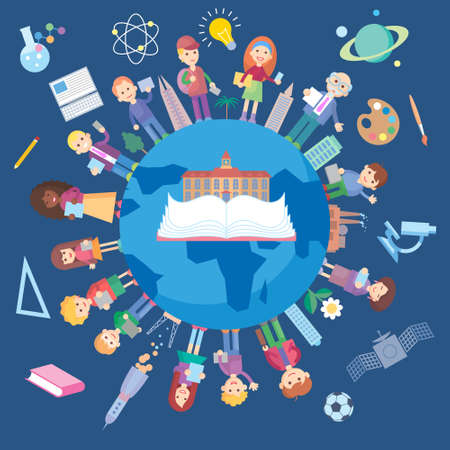 Education and science concept illustration