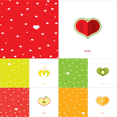 сделанный со вкусом: Set of double congratulation tasteful cards for Valentines day