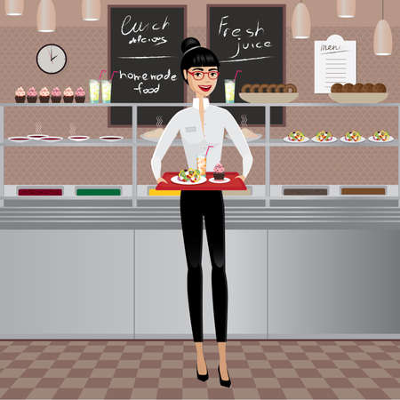 businesslike: Businesswoman on a business lunch in cafe