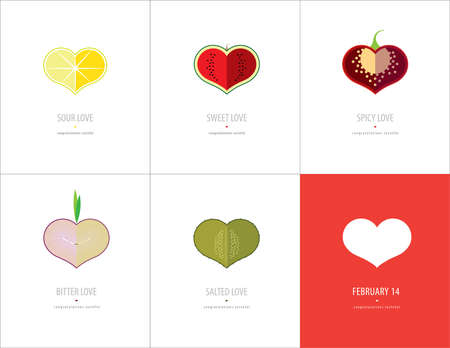 сделанный со вкусом: Set of congratulation tasteful cards for Valentines day