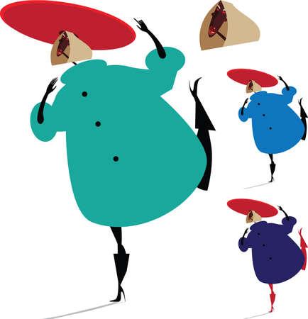 Set avec fille à la mode dans un chapeau rouge Banque d'images - 47607554
