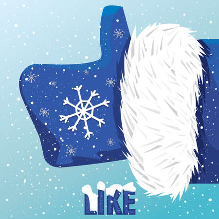 like it: Vector icon thumbs up Father Christmas like it
