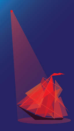 Vector illustration on color background featuring Scarlet Sails