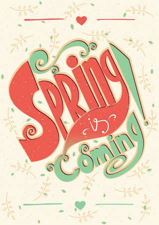 offshoot: Fresh design poster with lettering - Spring is coming concept