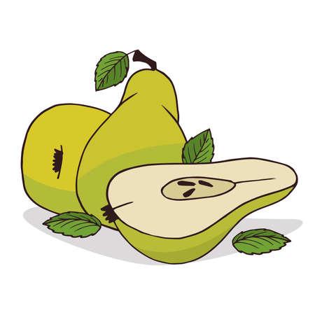 Isolate ripe pear fruit