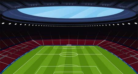 A huge empty soccer stadium Illustration