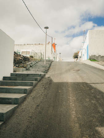 upward: Road and staircase upward Stock Photo