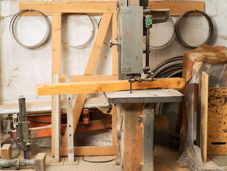 electric saw: electric saw machine in a workshop