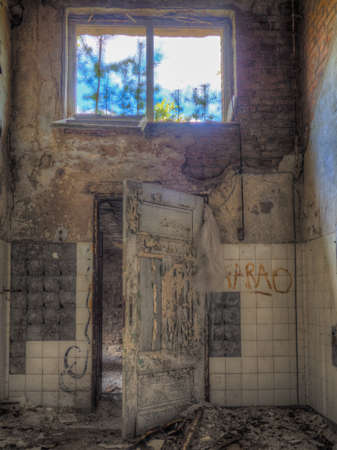 abandoned room: Old forgotten and abandoned room with a window